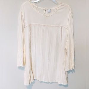 Cream Bell Sleeve Blouse XXL